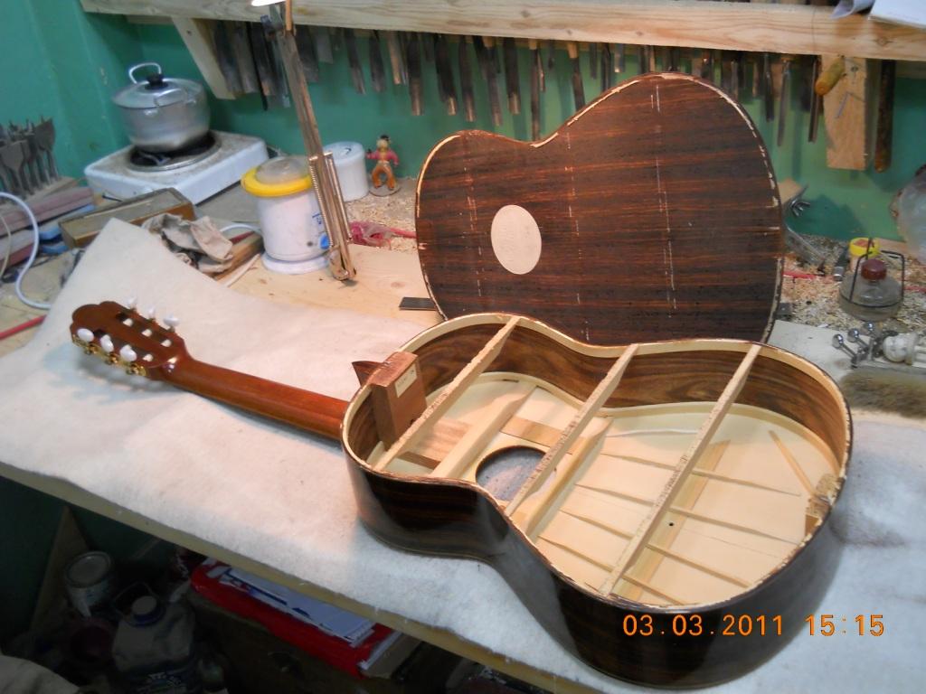 Ремонт верхней деки гитары своими руками